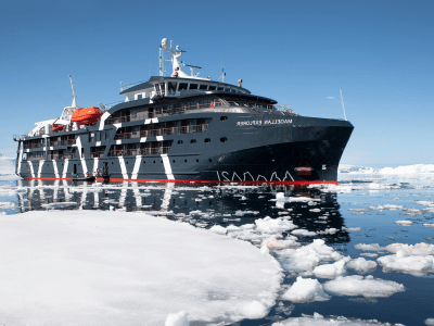 Fly to Antarctica and sail on board Magellan Explorer