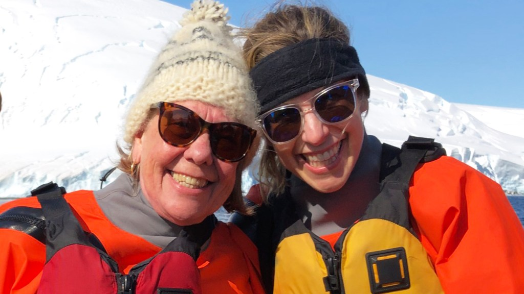 Mother and Daughter adventure in Antarctica. A story by Katie Losey who traveled with her mother during our 2019-20 Air-Cruise Season in Antarctica on Ocean Nova.