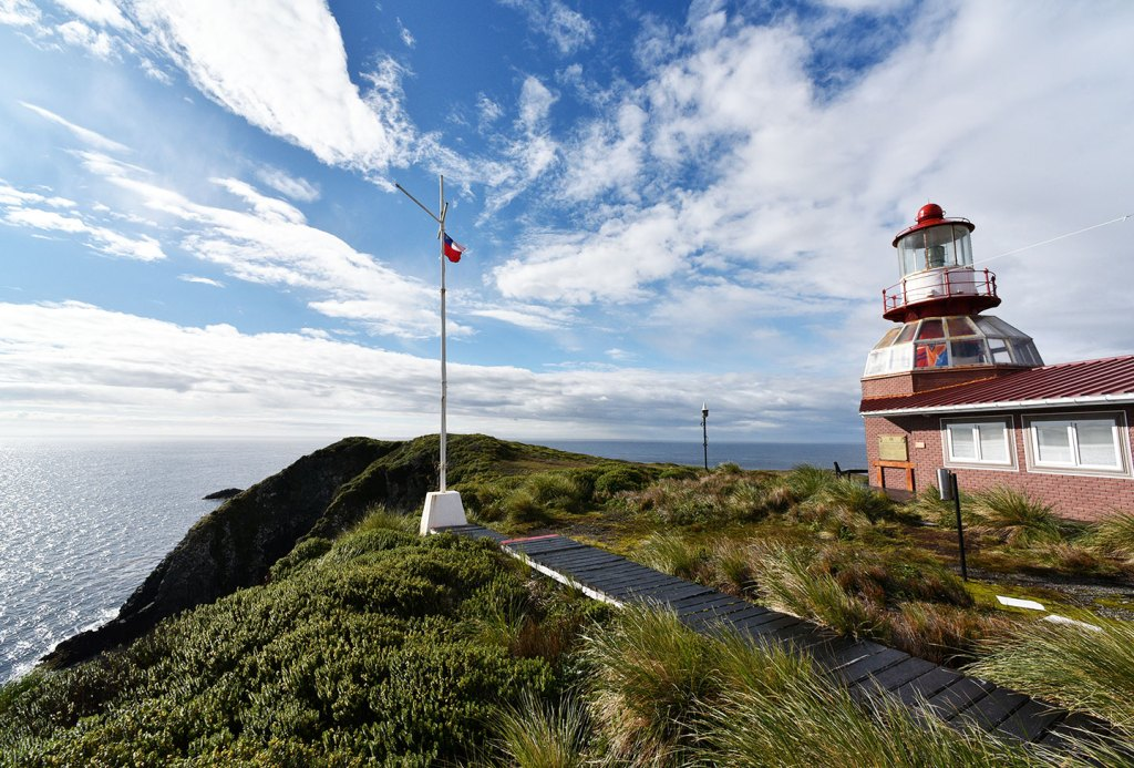 Lighthouse in Cape Horn island