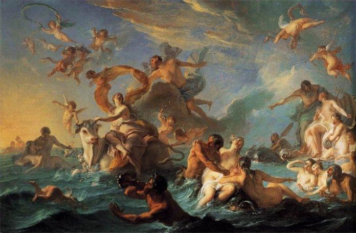 El rapto de Europa. Nöel-Nicolas Coypel, 1627. Museo de Arte de Filadelfia