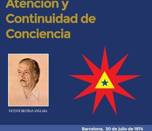 Atención y Continuidad de Conciencia. Barcelona, 30 de julio de 1974.