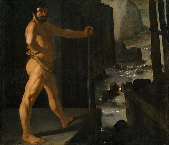 Hércules desvía el curso del río Alfeo. Francisco de Zurbarán (1598–1664). Museo del Prado (Madrid)