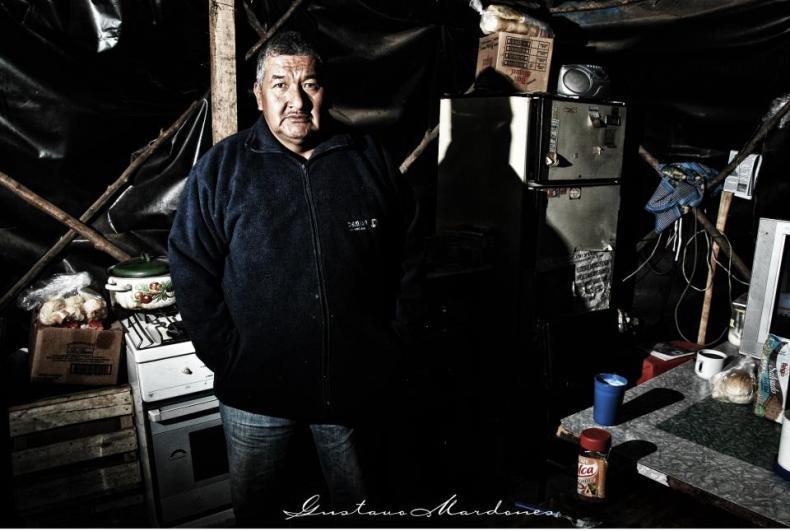 Gualberto, padre de Danie Solano. Foto: Sergio Heredia