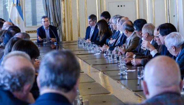 Reunion de ayer del presidente Macri con los rectores. Foto: lavoz.com.ar