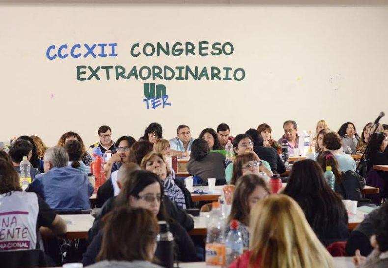 Congreso de los docentes rionegrinos en Viedma. Foto: Unter