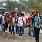 Una nueva caravana migrante parte de Honduras