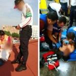 Intenta arrojarse del techo en Metro San Lázaro y 'polis' lo salvan