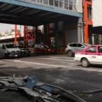 Cae plafón de un puente de la Línea 2 del Metro