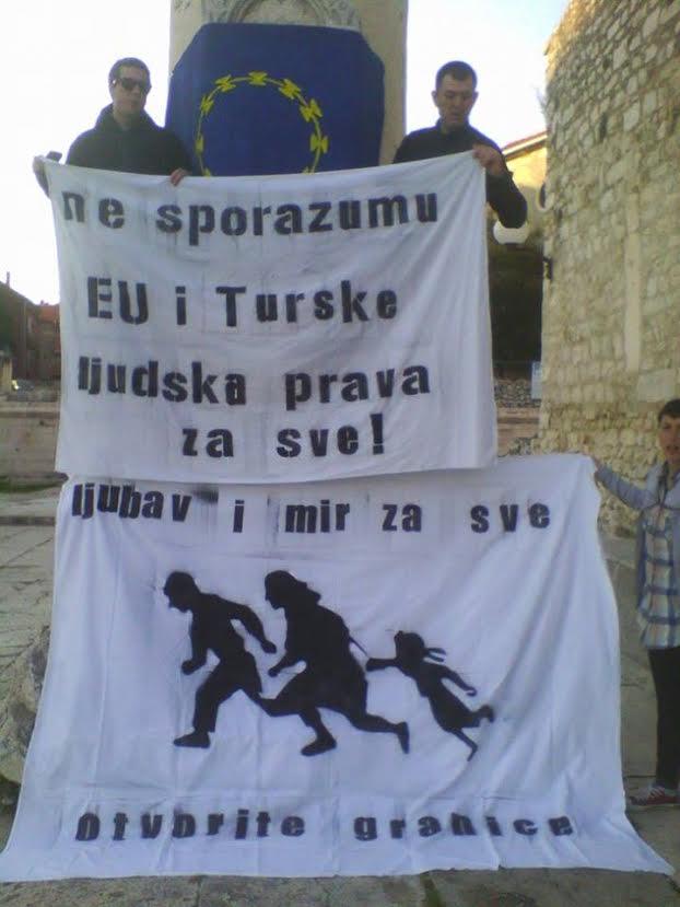 Prosvjed protiv sporazuma EU i Turske