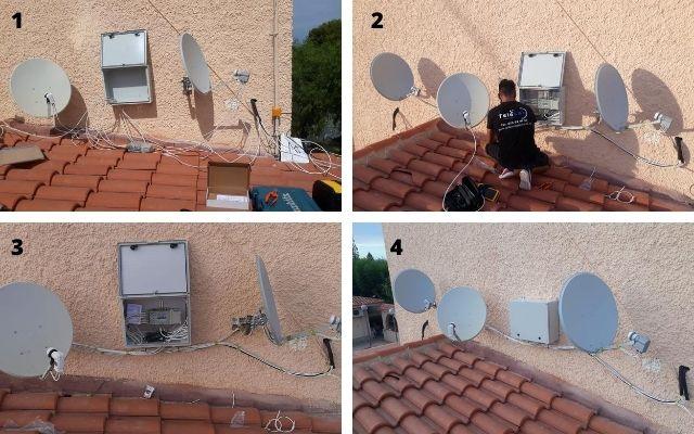 Instalacion Multiswitch orientacion parabolica Astra Hotbird