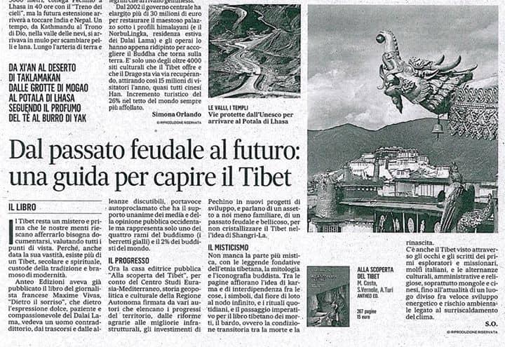 'Alla scoperta del Tibet' approda su 'Il Messaggero'