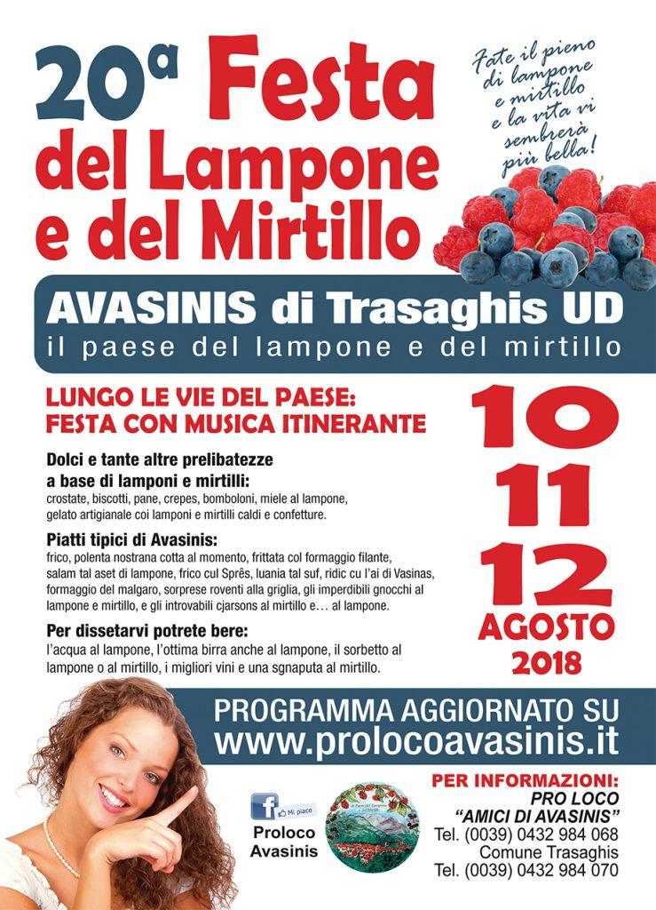 Festa del Lampone e del Mirtillo 2018 a Avasinis