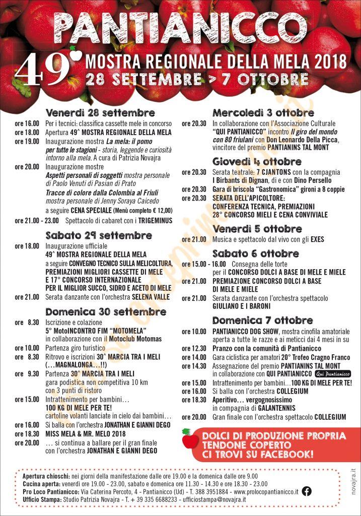 Mostra Regionale della Mela 2018 a Pantianicco
