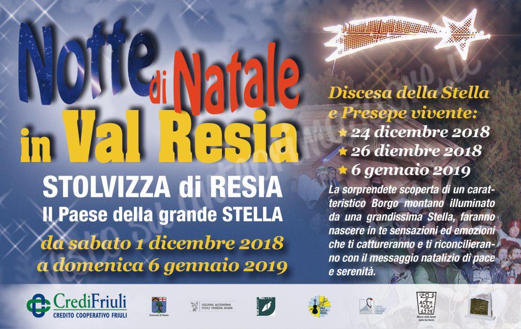 Notte di Natale in Val Resia 2018 a Stolvizza locandina