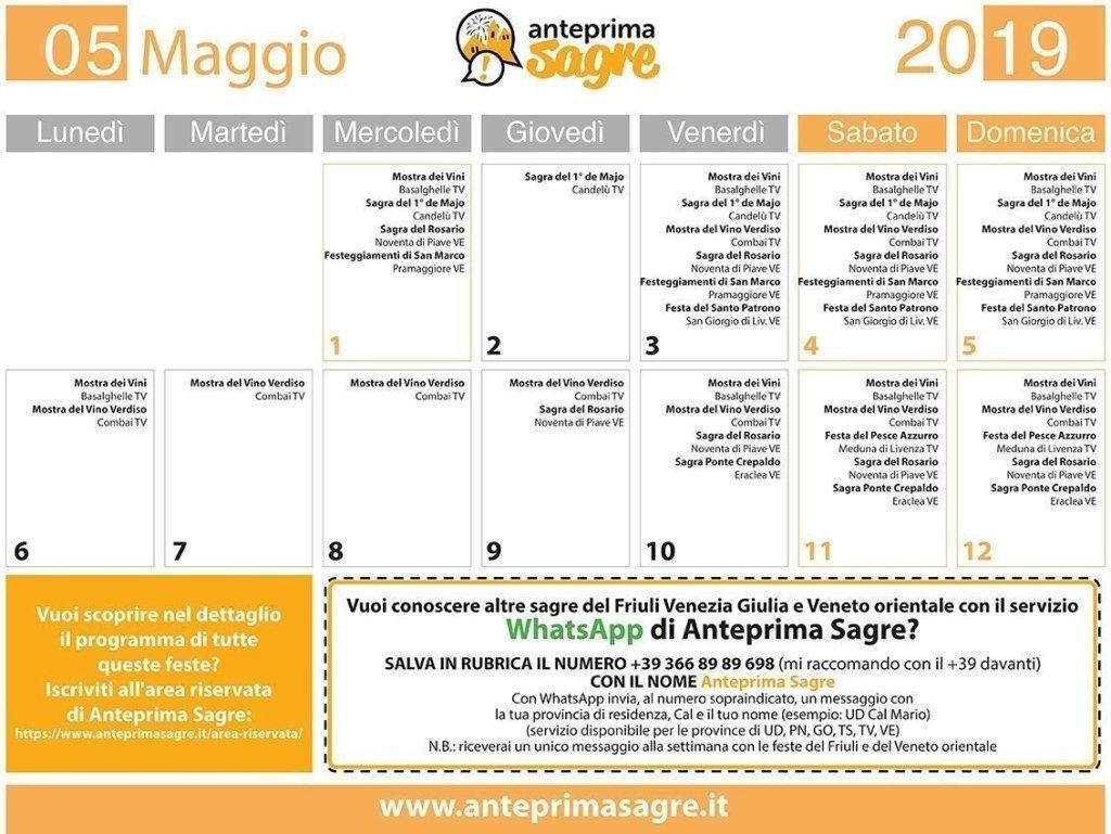 Calendario Sagre.Le Sagre In Provincia Di Venezia Aggiornamento Ogni Fine