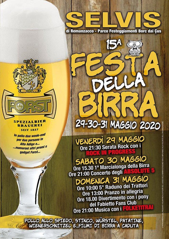 Festa della Birra a Selvis 2020