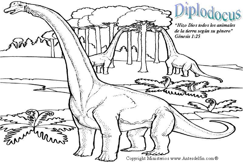 diplodocus colouring pages page 3