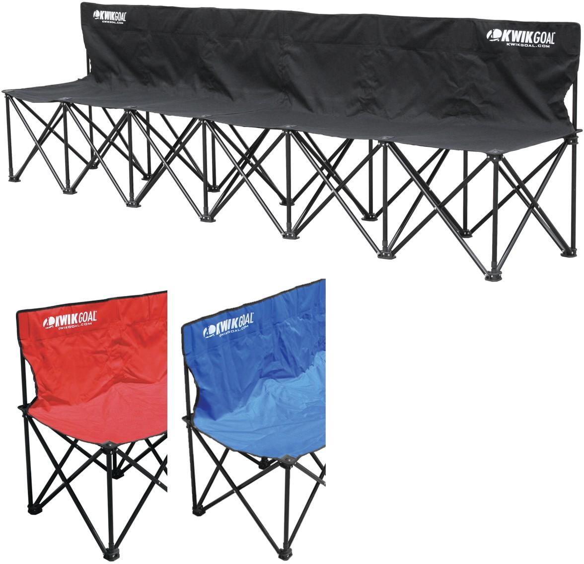 Kwik Goal 9b906 Kwik Bench Folding Soccer Bench 6 Seater
