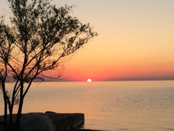 Sunrise at Lake Huron