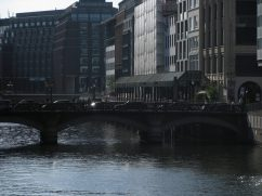 Canals in Hamburg's center keeps you one with the water.