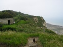 Bunkers are still dug into Dieppe's coastline