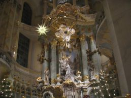 Inside the Frauenkirche in Dresden.