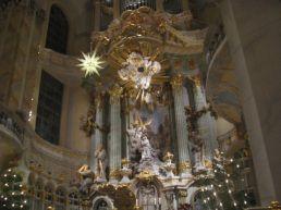 Inside the Frauenkirche in Dresden.