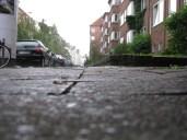 Rain on the streets of Kiel