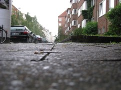 Rain on the streets of Kiel