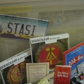 I'm not sure why there's an Arizona license plate here at the Stasi museum