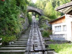 The tracks up the mountain