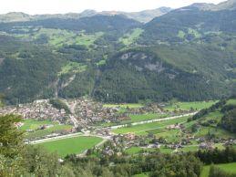 Meiringen from near the top of Reichenbach Falls