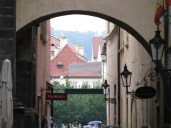 View from a side street of Prague