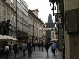 A street scene in Prague