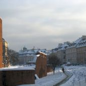 One of Warsaw's old city walls.