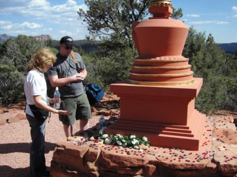 Hearing about a smaller Stupa near the larger one