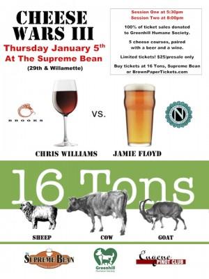 Eugene food, craft beer and wine: Cheese Wars III - Ninkasi Brewing vs. Brooks Winery