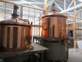 Copper-clad brewing equipment soon will be concocting Falling Sky beers. Credit: Falling Sky