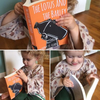 """""""I love these. I like looking at the pages. I can read the letters. They are a puzzle."""" High praise from a certain junior assistant."""