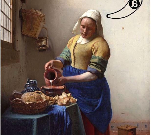 """El Paspartú: Cuando cocinar es virtud: """"La lechera"""", de Vermeer, ca. 1660"""