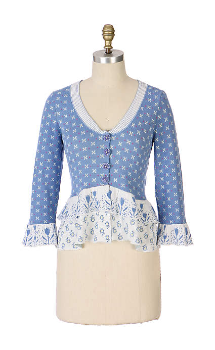 Anthropologie Violet Shower Cardigan by MOTH (2007)