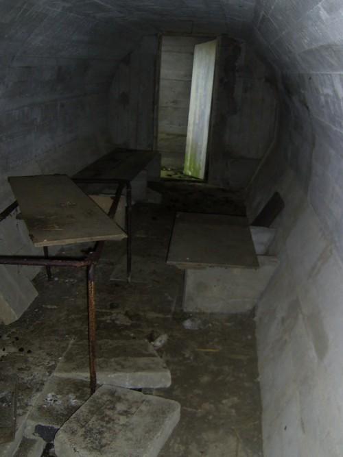 Inside air-raid shelter 2 at Rodel Camp