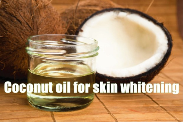 Coconut oil for skin whitening