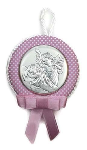 Amuletos para bebés y niños Medalla Cuna Plata Bilaminada niña