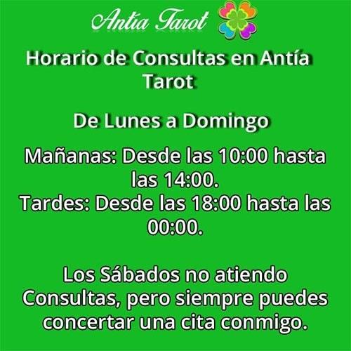 Horario Antía Tarot