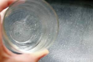 bicchiere incrostato