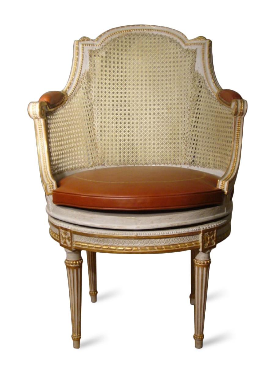 fauteuil de bureau d epoque louis xvi esampille jean