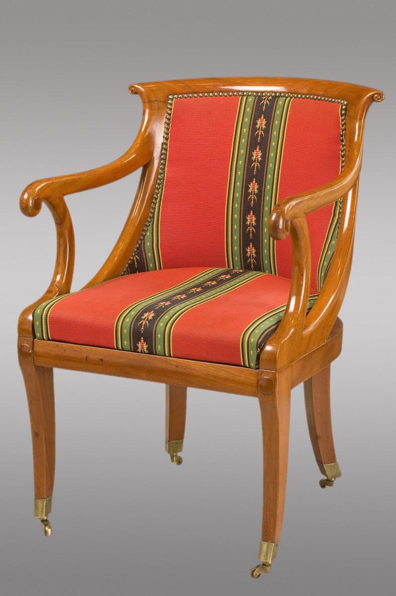 fauteuil louis philippe en merisier