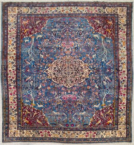 tapis teheran laine kork soyeuse iran vers 1880