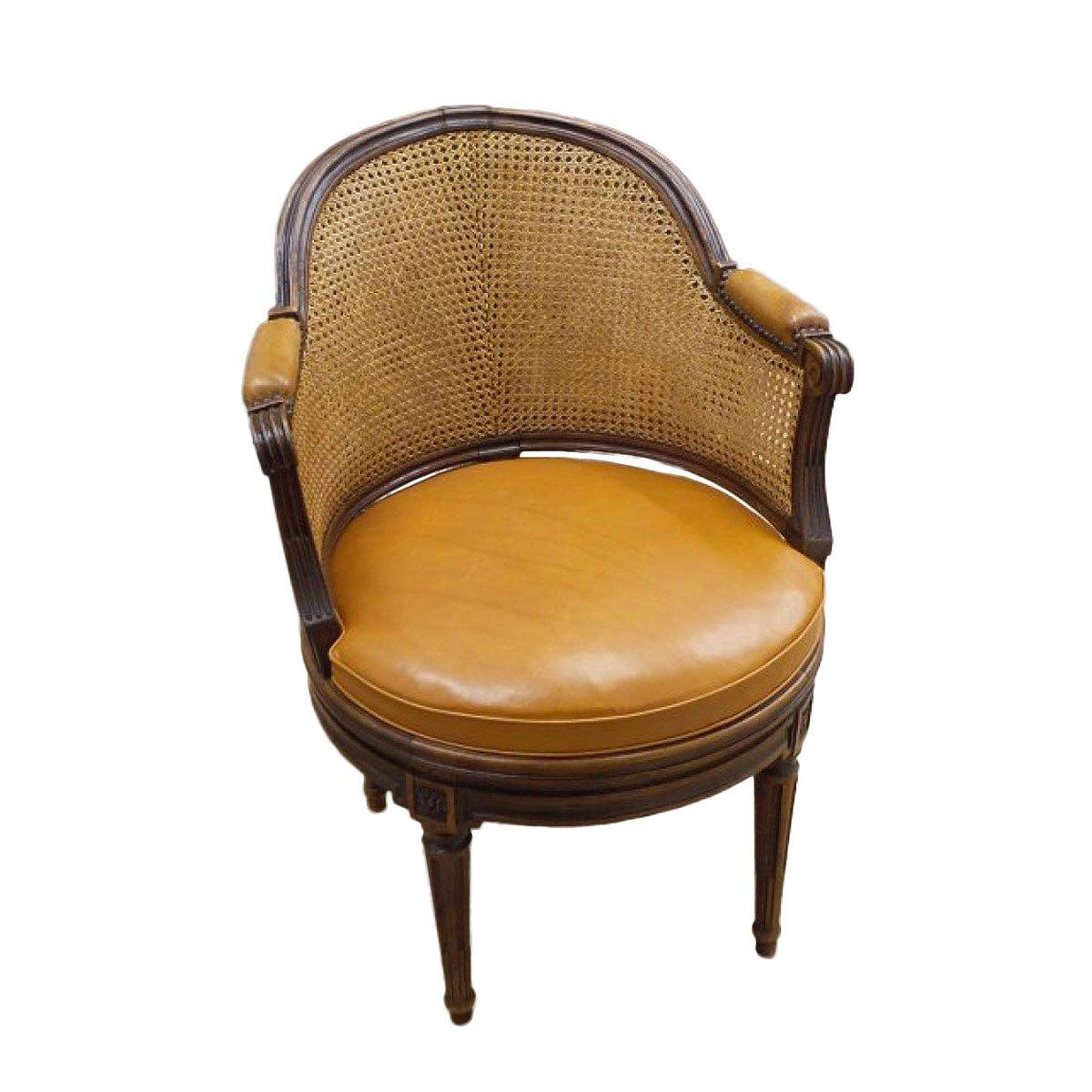 fauteuil de bureau tournant d epoque louis xvi estampille remy